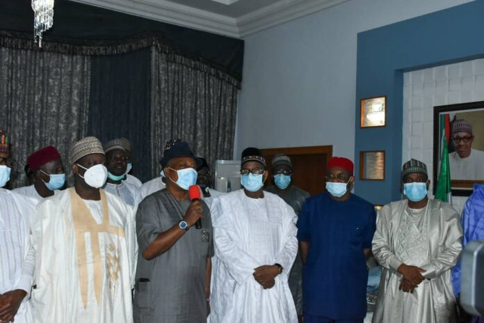 Uche Secondus & PDP governors in Bauchi
